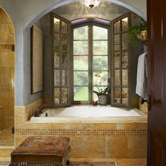 mediterranean bathroom by Grace Designs Dallas