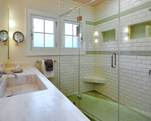 Penny Round Tiled Shower Pan Houzz