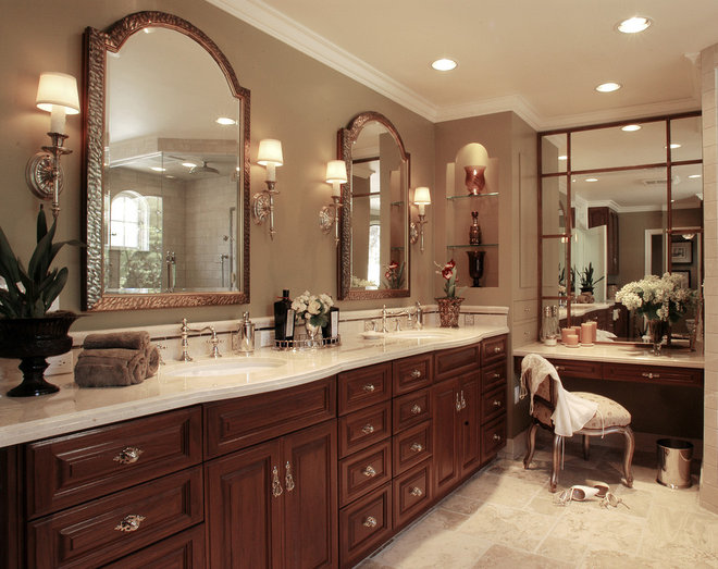 Traditional Bathroom by Kate Byer Interior Design