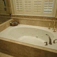 Traditional Bathroom by Katy Tile & Marble