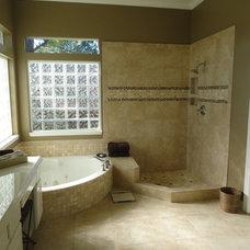 Contemporary Bathroom by Katy Tile & Marble