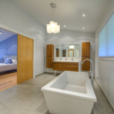 Asian Bathroom by Moss Building and Design