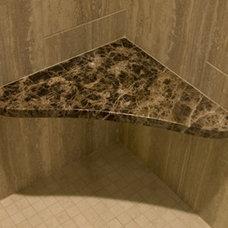 Contemporary Bathroom by Nancy Finneson, AKBD, CAPS / DeMane Design