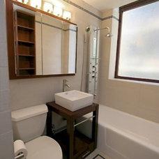 Contemporary Bathroom by Peggy Berk - Area Aesthetics Interior Design