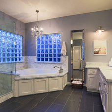 Transitional Bathroom by Apark Design Studio LLC.