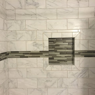 Bathroom Remodel with Green Accent Tile