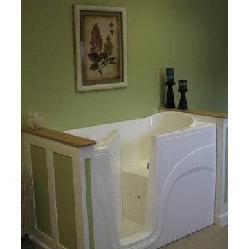 Bathroom Remodel with Walk In Bath Tub