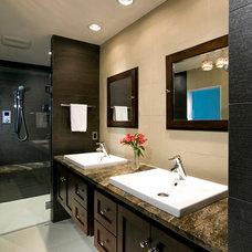 Contemporary Bathroom by Blue Moon Construction