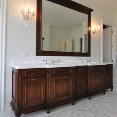 mediterranean bathroom by Keystone Cabinetry Inc.   Since 1984