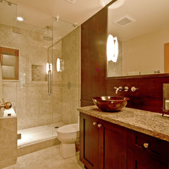 contemporary bathroom by Debbie Evans,RID