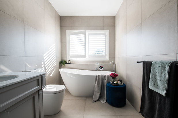 Transitional Bathroom by embracingspace