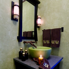 asian bathroom by Blue Heron Designs Inc.