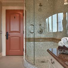 Mediterranean Bathroom by www.hughesdesines.com