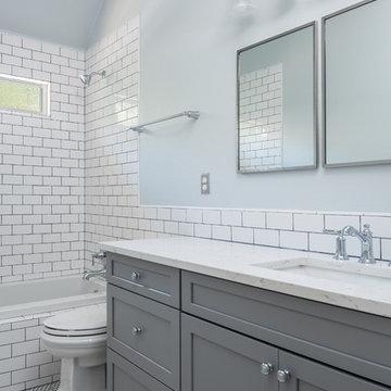 Bathroom Renovation on Bel Air - Open Bathtub Shower Combo