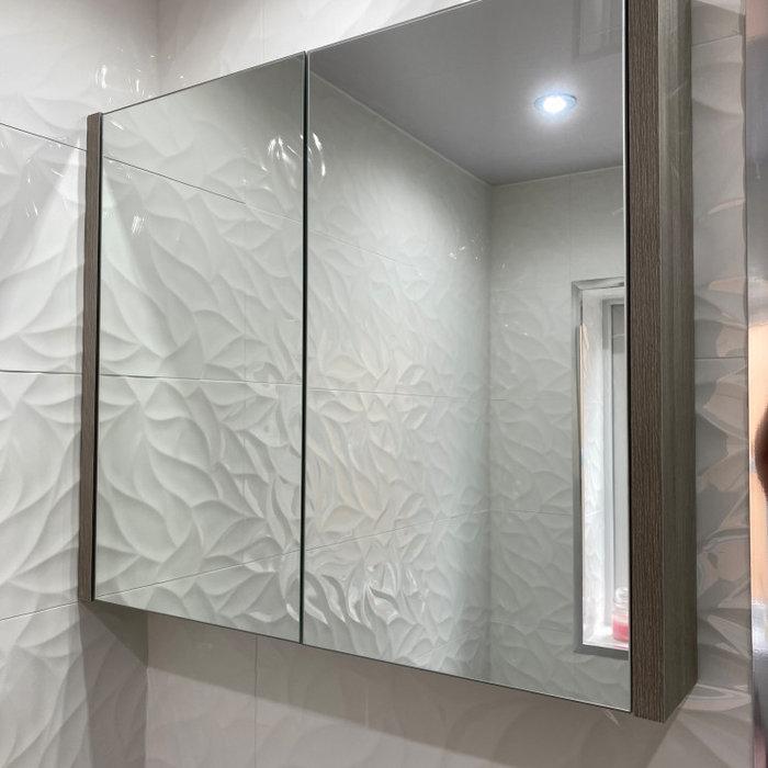 Bathroom with Textured Wall