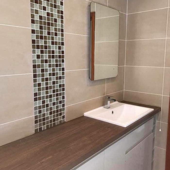 Mosaic Strip Bathroom