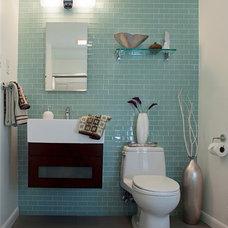 Modern Bathroom by Sheryl Steinberg Interior Design, LLC