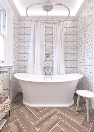 Transitional Bathroom by Bluebrick & Steel