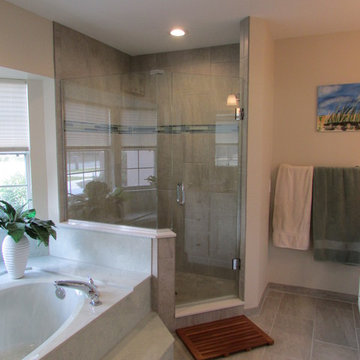 Bathroom Renovation-Working with existing green tub.