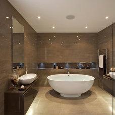 Contemporary Bathroom by N&F General Contractors Inc