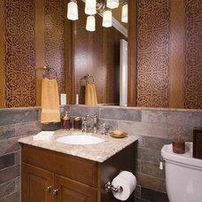 Traditional Bathroom by Sara Hopkins