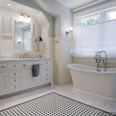 Traditional Bathroom by Sarah Dreyer Design