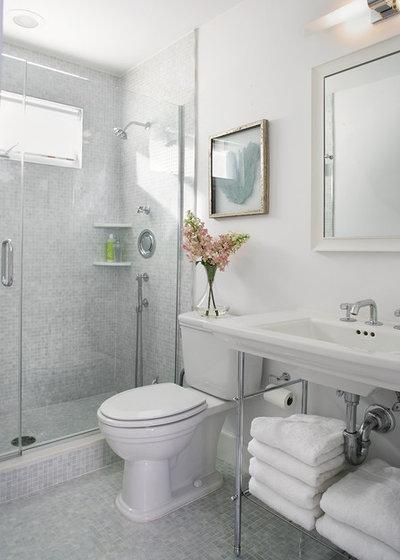 Houzz tips: 12 designtip til at forbedre et lille badeværelse