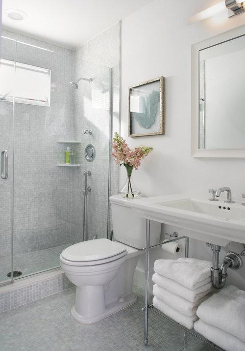 Describe the typical American bathroom...