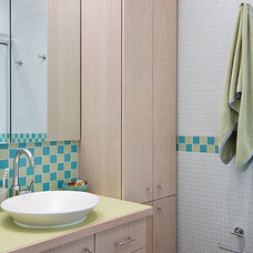 Beach Style Bathroom by Shelley Kirsch Interior Design and Decoration