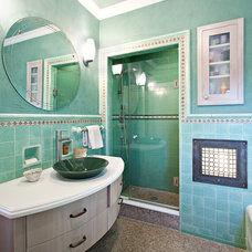 Traditional Bathroom by Shelley Kirsch Interior Design and Decoration