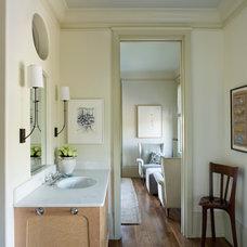 Farmhouse Bathroom by Sightline Art Consulting