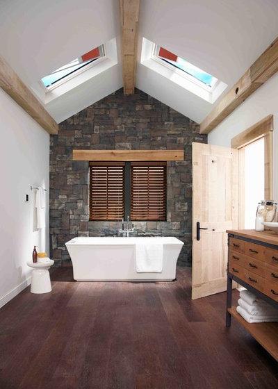 Farmhouse Bathroom by Skylight Specialists, Inc.