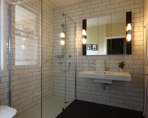 White Tile With Dark Grout Home Design Ideas Pictures