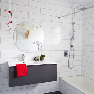 Grey Grout In White Tile Houzz