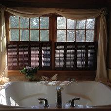 Traditional Bathroom by Horizon Interior Shutters