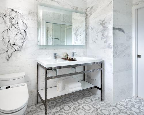 Marble Mosaic Floor Tile carrara bianco honed 2 hexagon marble mosaic tile Saveemail