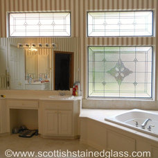Traditional Bathroom by Scottish Stained Glass