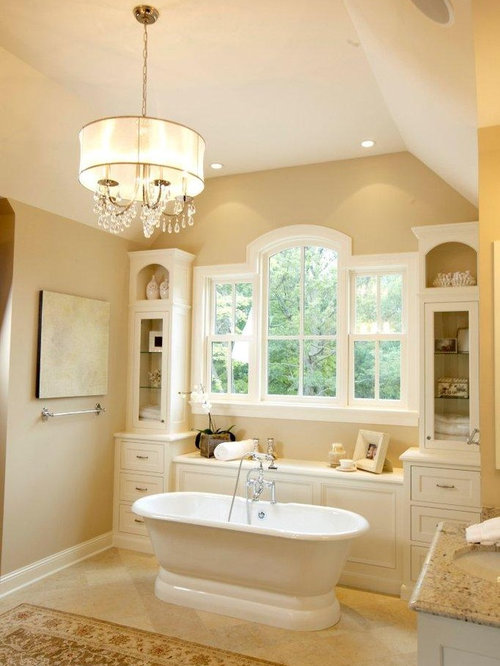 12 817 Tan Or Cream Colored Walls Bathroom Design Photos