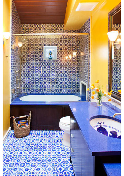 mediterranean bathroom by Susan E. Brown Interior Design