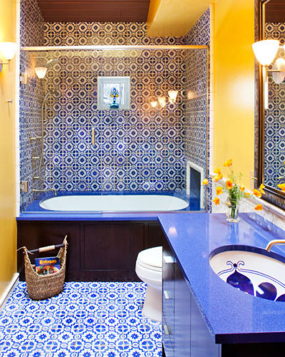 Blue And Yellow Bathroom Decor: Dupont Zodiaq Celestial Blue Home Design Ideas, Pictures
