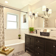 Transitional Bathroom by Suzan J Designs - Decorating Den Interiors