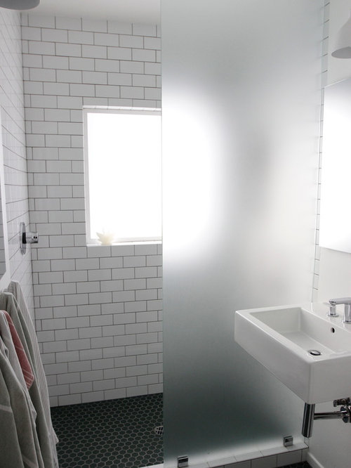 Subway Tile Walk In Shower Houzz