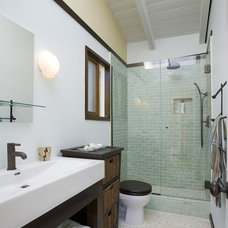 Contemporary Bathroom by Glass Tile Home