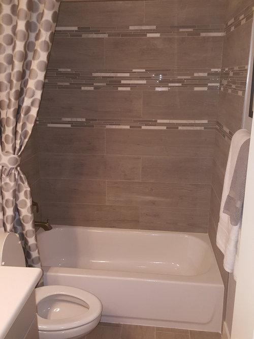 Salle d'eau romantique avec un combiné douche/baignoire : Photos ...