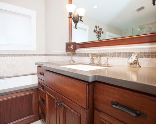 Traditional bathroom design ideas pictures remodel decor for Timberwood custom kitchens