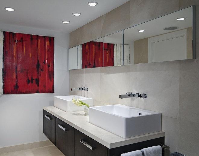 Contemporary Bathroom by Toby Zack Designs