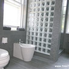 Contemporary Bathroom by Trim Team NJ