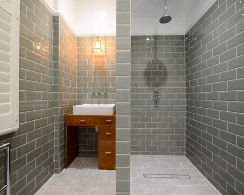 Grey Wood Tile Floor - Grey Wood Tile Floor Houzz