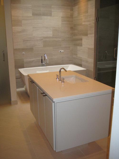 Caesarstone eggshell quartz home design ideas pictures for Quartz bathroom accessories