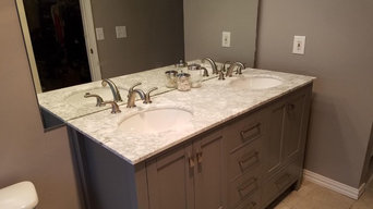 Bathroom Vanity and Walk In Shower